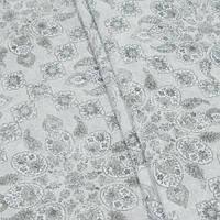 Декоративная ткань, принт белый