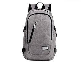 Рюкзак Andadora Серый с USB зарядкой (ZHD-0219)