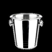 Ведро для льда ForBar (маленькое) h13*d14*d9, нержавеющая сталь, 1300мл