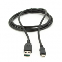 Кабель USB 2.0 (AM/Miсro 5 pin) 1,8м, черный, Пакет Q250
