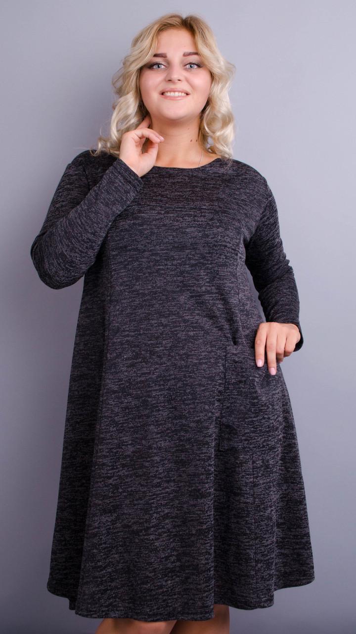 Повседневное женское демисезонное платье больших размеров. размеры:50-64