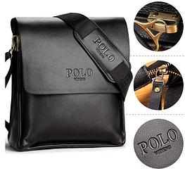 Мужская сумка Polo Videng из PU кожи Поло Виденг. Реплика сумка Поло стильная сумка хорошего качества