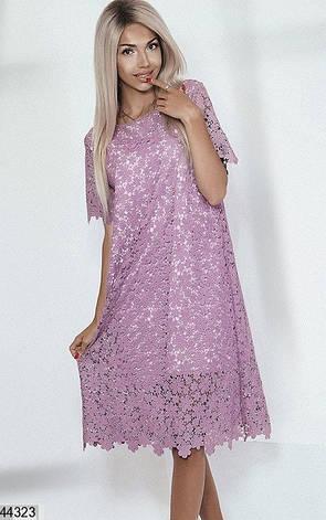 Шикарное платье кружево сиреневое размер универсальный: 42-48, фото 2