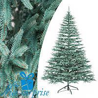 Новорічна блакитна лита штучна ялинка АЛЬПІЙСЬКА 250 см, фото 1