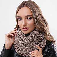 Мягкий стильный шарф-хомут, снуд с узором