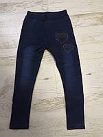 Лосины под джинс утепленные для девочек оптом, Sincere, 98-128 см,  № LL-2456, фото 1