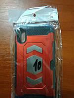 Чехол трансформер  противоударный iPhone  X  (красный)