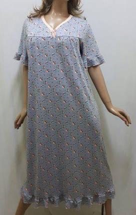 Ночная рубашка вискозная с рукавом большого размера код124, фото 2
