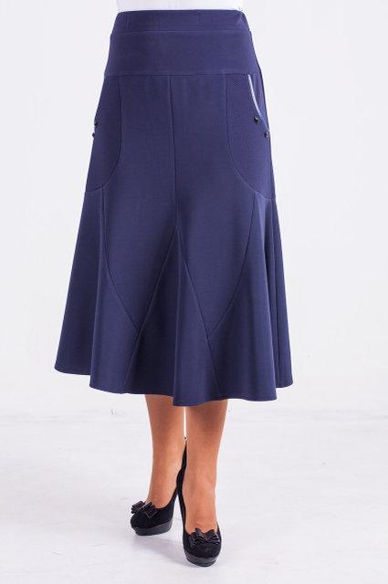 Женская юбка трикотажная годе