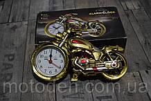 Будильник - мотоцикл, моточасы, часы настольные в виде мотоцикла (вариант 4)
