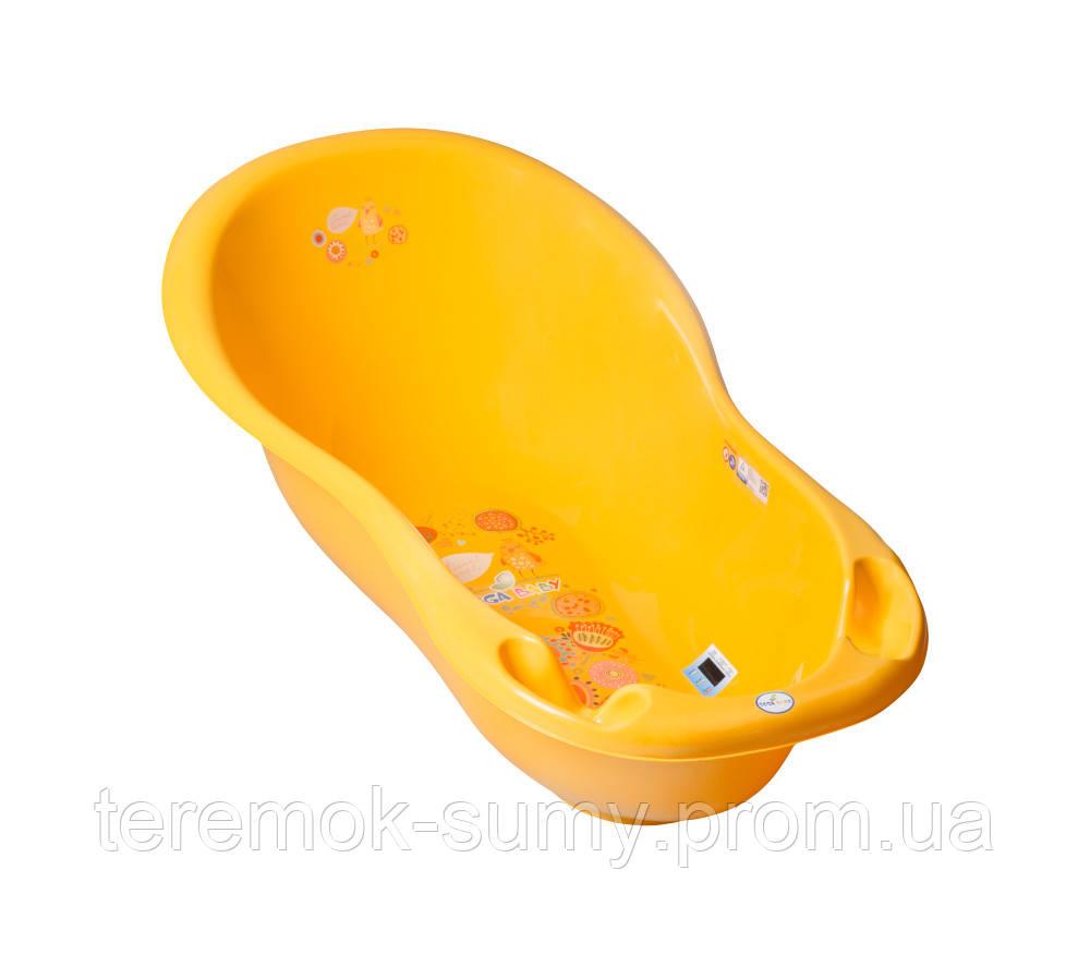 Ванночка Tega Folk FL-005 LUX 102 cm с термометром 113 yellow