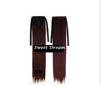 Хвост на ленте из искусственных волос, шиньон, наращивание волос, длина - 55 см, вес - 80 г, цвет - №33