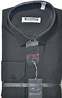 Турецкая черная приталенная рубашка ZERMON (размер S,M,L,XL,XXL + под заказ), фото 1