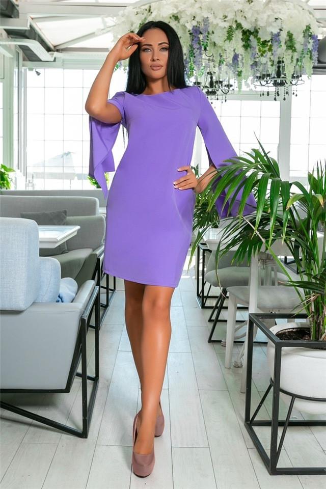 Женское Платье, цвет - Лаванда (141)701-1. (7 цветов), Ткань: креп. Размеры: 42, 44, 46, 48, 50, 52.