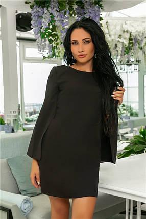 Женское Платье, цвет - Чёрный (141)701-3. (7 цветов), Ткань: креп. Размеры: 42, 44, 46, 48, 50, 52., фото 2