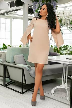 Женское Платье, цвет - Беж (141)701-6. (7 цветов), Ткань: креп. Размеры: 42, 44, 46, 48, 50, 52., фото 2