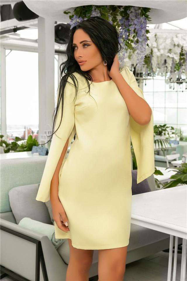 Женское Платье (141)701. (7 цветов), Ткань: креп. Размеры: 42, 44, 46, 48, 50, 52.