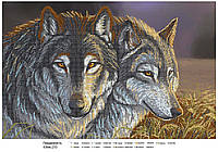 """Схема для вышивки бисером А2 """"Волки"""""""