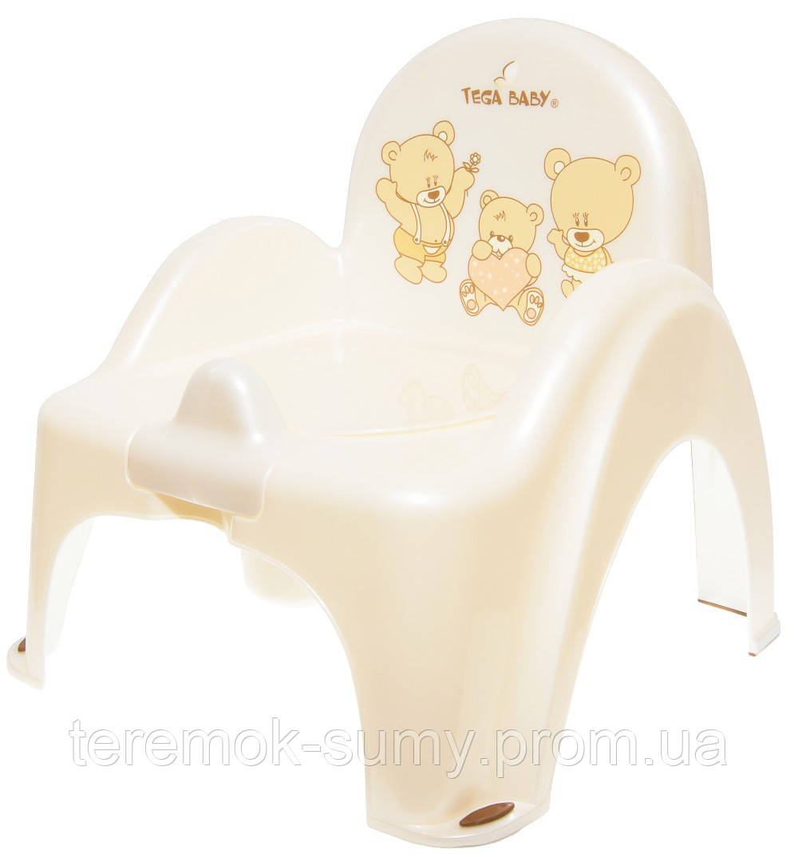Горшок-стульчик Tega Teddy Bear MS-012 118 white pearl