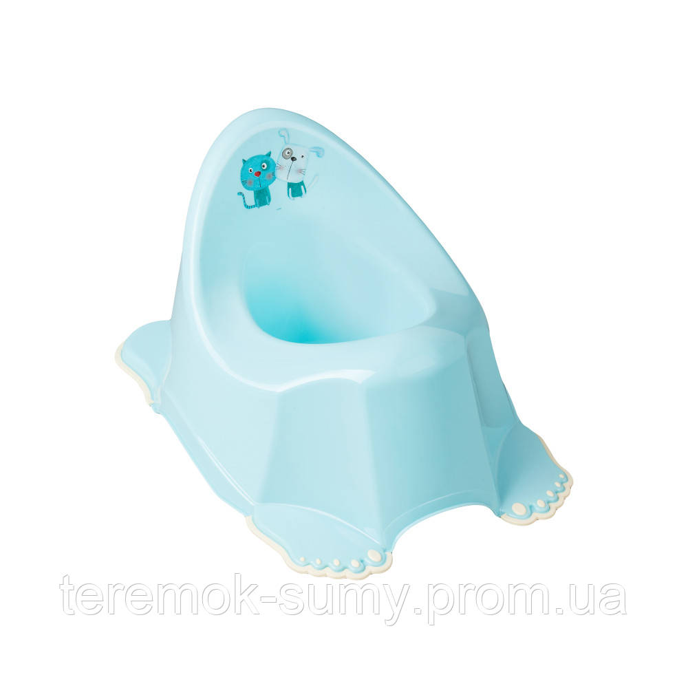 Горшок Tega Dog & Cat PK-001 нескользящий 101 light blue