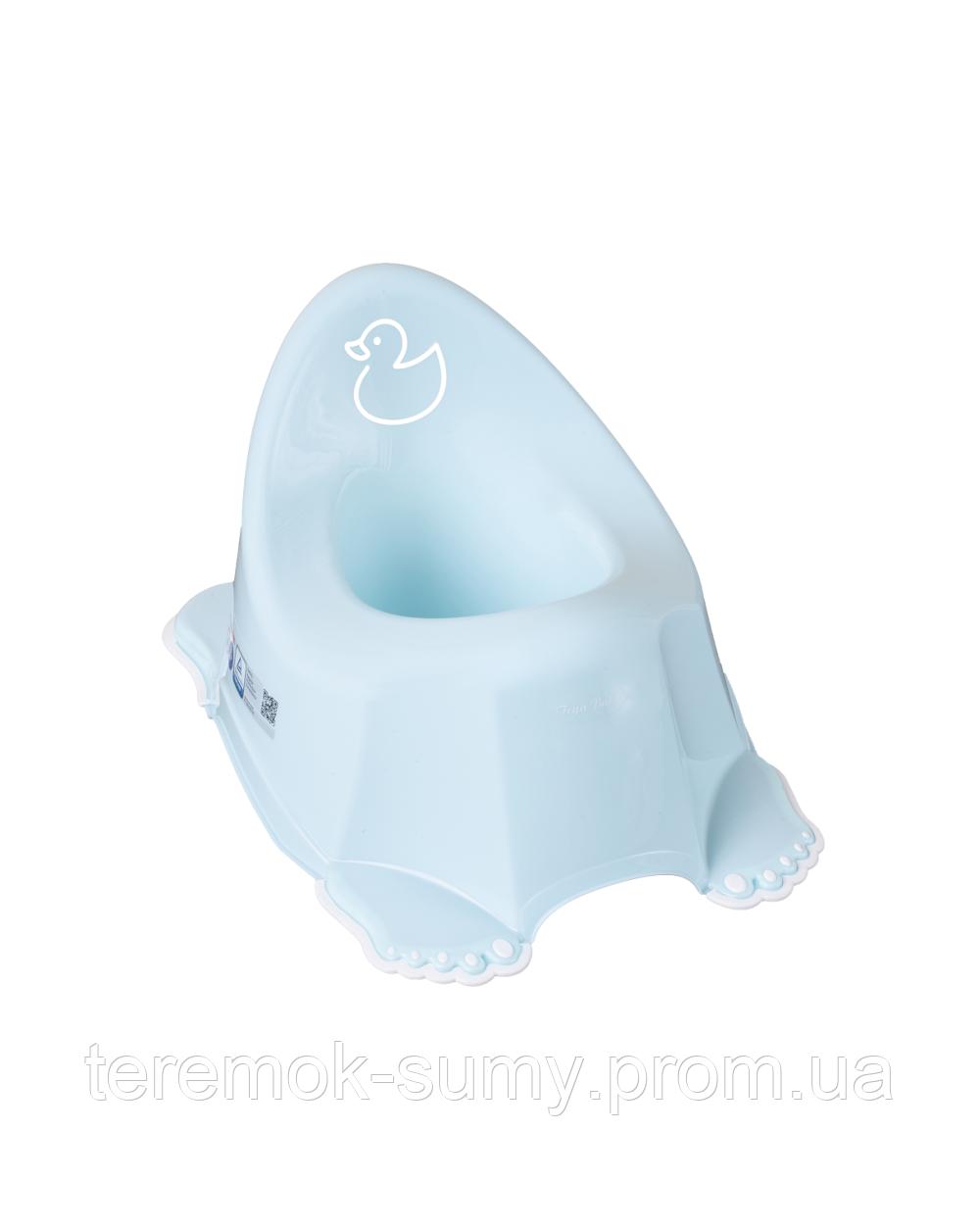 Горшок Tega Duck PO-070  with music нескользящий 129 light blue