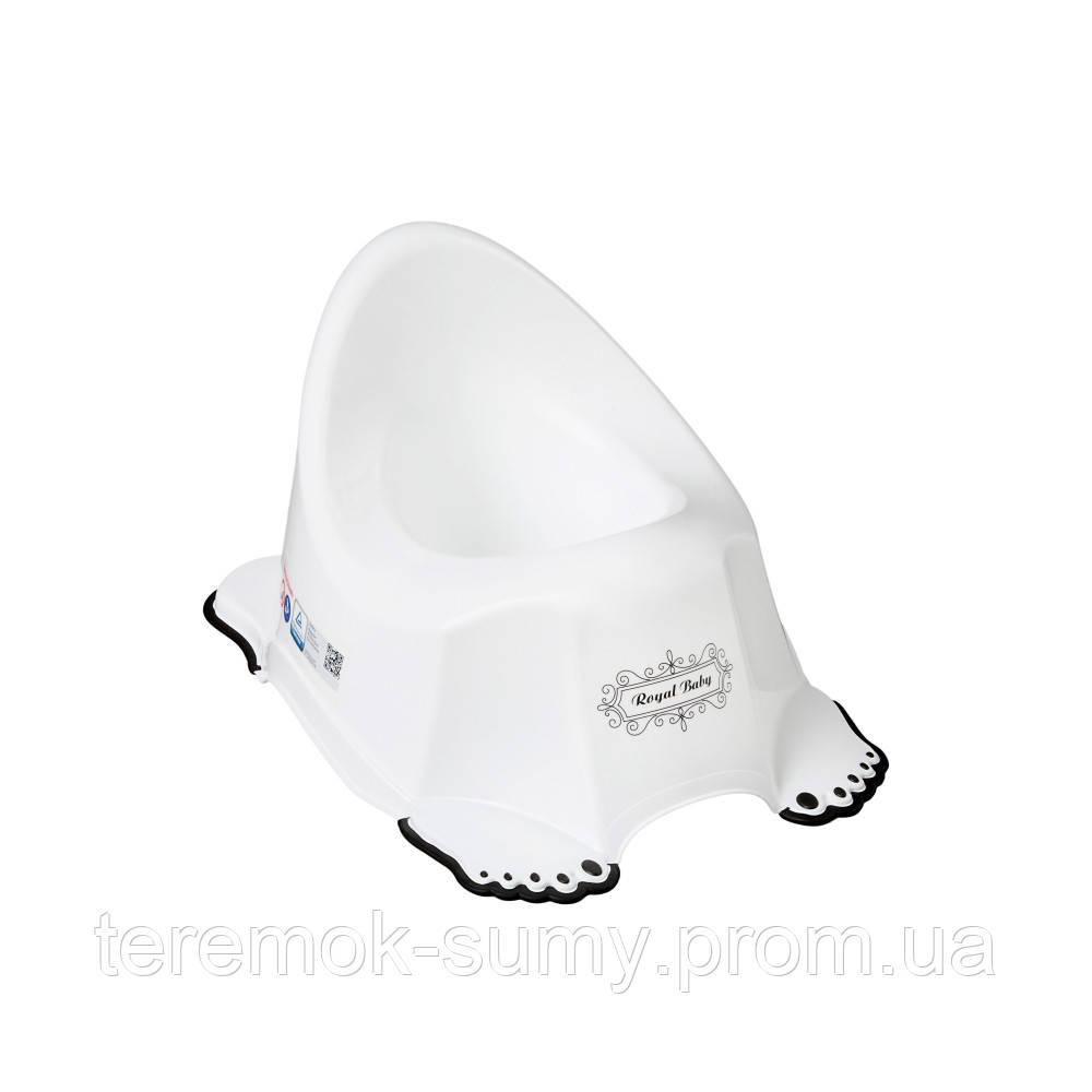 Горшок Tega Royal Baby RL-001 нескользящий 103-C white-black