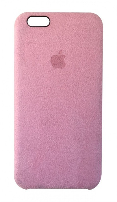 "Накладка iPhone 8 ""Alcantara"" Розовая"