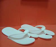 Тапочки - вьетнамки (12 пар в упаковке) цвет белый 3 мм толщиной