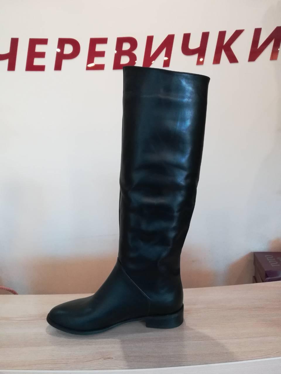 d699e306b Демисезонные женские кожаные сапоги-труба (37 размер): продажа, цена ...