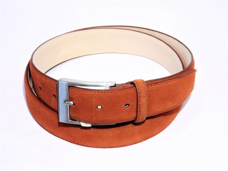 cc553e485fe8 Замшевый кожаный мужской ремень Monti Узкий брючный пояс Производится в  Италии Купить в розницу Код