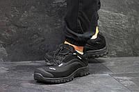 Мужские кроссовки Salomon soft shell черные с белым   (Реплика ААА+)