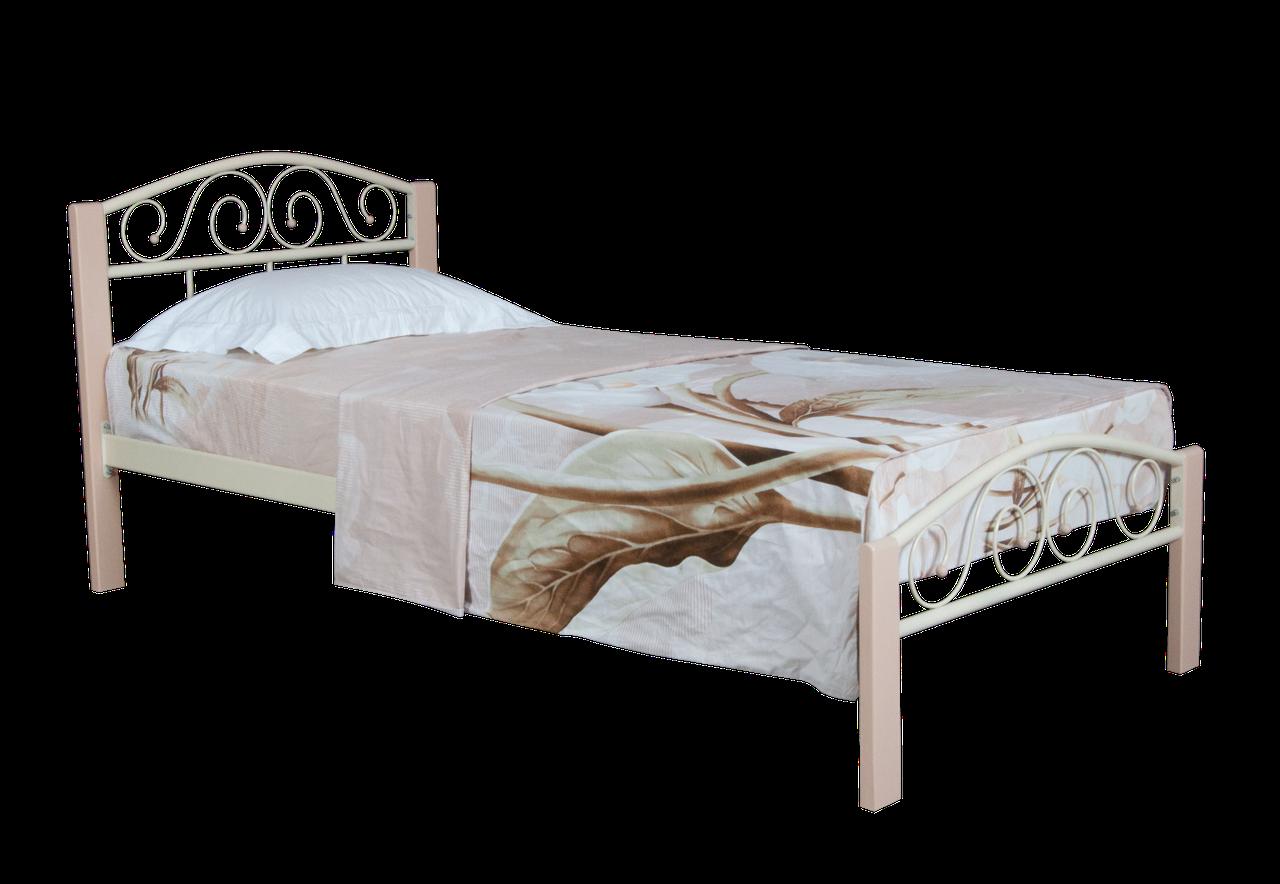 Кровать  Элис Люкс Вуд односпальная 200х80, бирюзовая