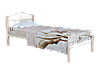 Кровать  Элис Люкс Вуд односпальная 200х90, розовая