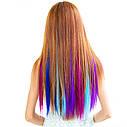 Цветные пряди на заколках клипсах набор 12 штук, фото 6