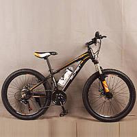 Велосипед горный S300 BLAST-БЛАСТ. Диаметр колёс 24'',Рама 13'' , Чёрно-Оранжевый