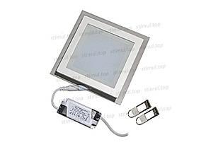 Светильник светодиодный точечный Down Light 6W Glass 3000К квадрат 125х125х45, фото 3