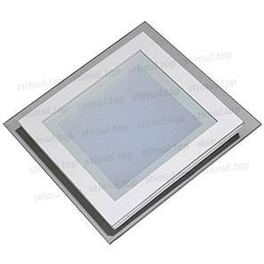 Светильник светодиодный точечный Down Light 6W Glass 3000К квадрат 125х125х45, фото 2