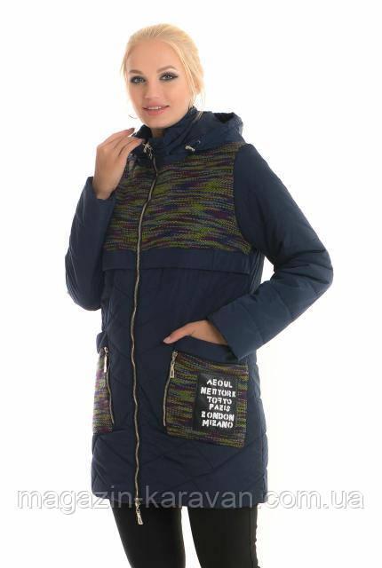 Куртка демисезонная на женщин ЛД 88 синий-1