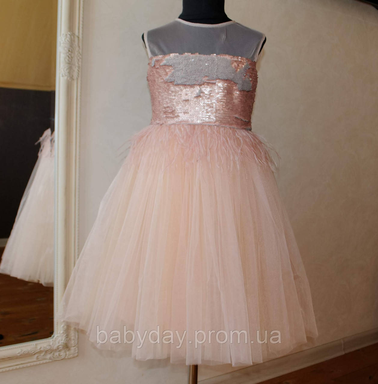 f0a83df493f Нарядное Платье Пудра с Пайетками Размеры 122