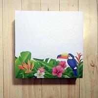 Бумага для заметок 90*90мм несклеенная 250 листов, Тропик