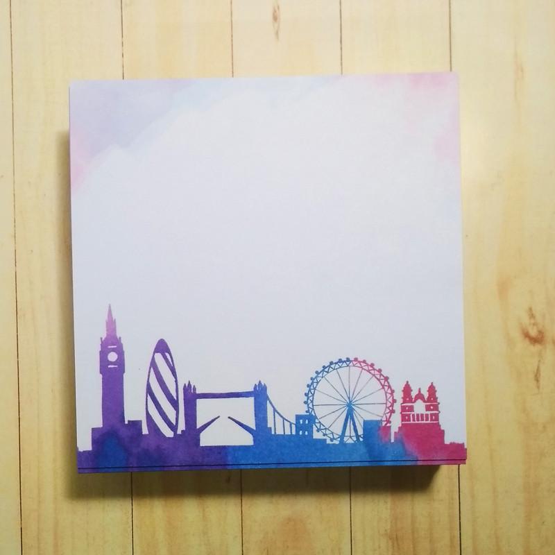 Бумага для заметок 90*90мм несклеенная 250 листов, Лондон