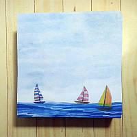 Бумага для заметок 90*90мм несклеенная 250 листов, Море, фото 1