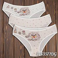 Красивые трусы мини-бикини детские для девочки Собачка Donella Турция 2/3-4143971DG | 5 шт.