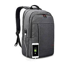 """Городской рюкзак для ноутбука 17"""" USB Тigernu (Тайгерну), темно-серый цвет"""