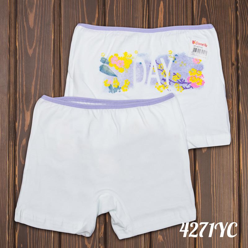 Трусы шортики детские для девочки с ярким принтом Donella Турция 8/9-4271YC   5 шт.
