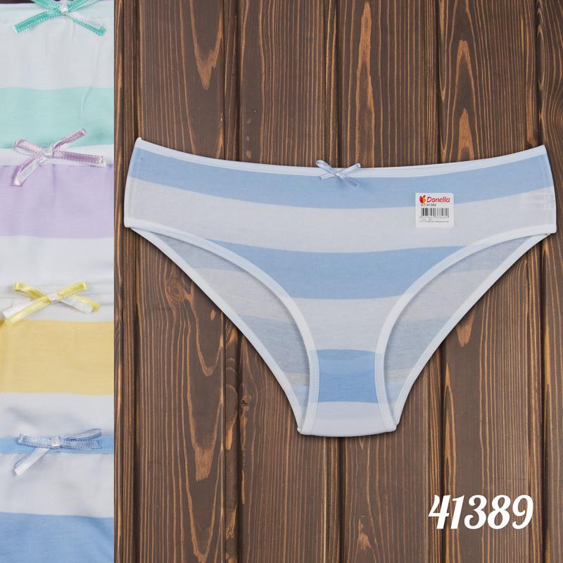 Трусы мини-бикини детские для девочки полосатые Donella Турция 4/5-41389   5 шт.