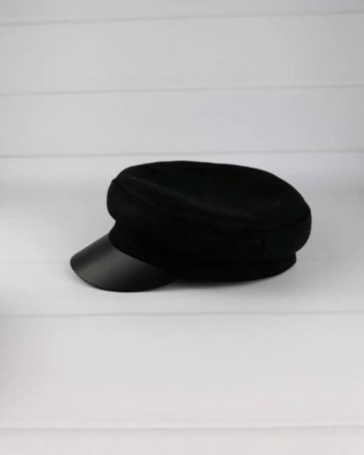 Кепи шерсть черная