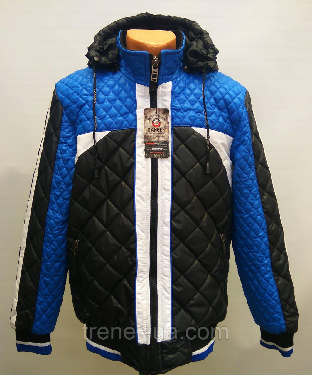 7b15d69e681 Куртка мужская Danger еврозима черно-сине-белая - Интернет магазин  футбольной атрибутики и аксессуаров