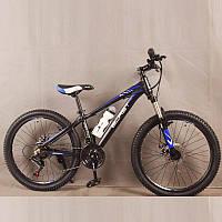 Велосипед горный S300 BLAST-БЛАСТ. Диаметр колёс 24'',Рама 13'', Чёрно-Синий