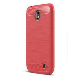 Чохол PRIMO Carbon Fiber для Nokia Series 1 Dual Sim - Red
